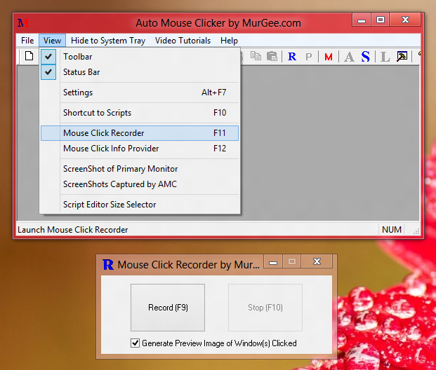 Left Click Recorder of Auto Mouse and How to Start the Recorder